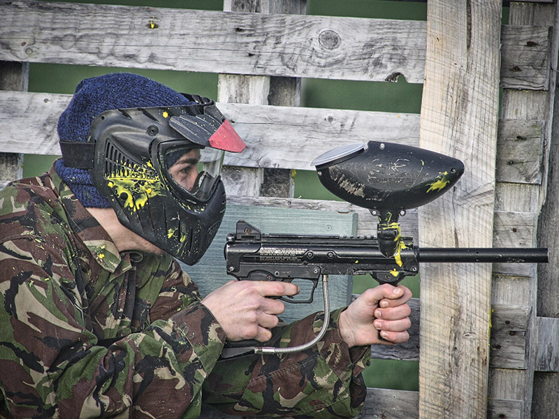 Joueur paintball