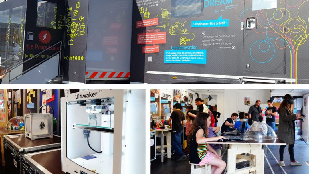 Ateliers de fabrication numérique – LE PROPULSEUR, FAB LAB MOBIL